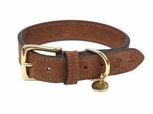 Halsband hond Nubu donkerbruin 45cmx30mm M