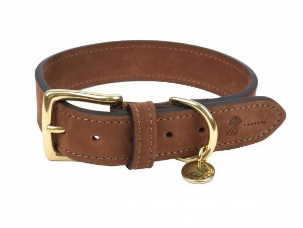 Halsband hond Nubu donkerbruin 40cmx25mm S