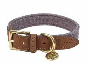 Halsband hond Blend donkergrijs 40cmx20mm S