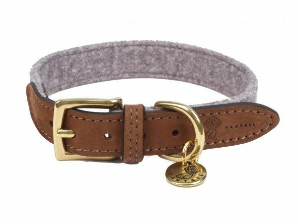 Halsband hond Blend lichtgrijs 40cmx20mm S