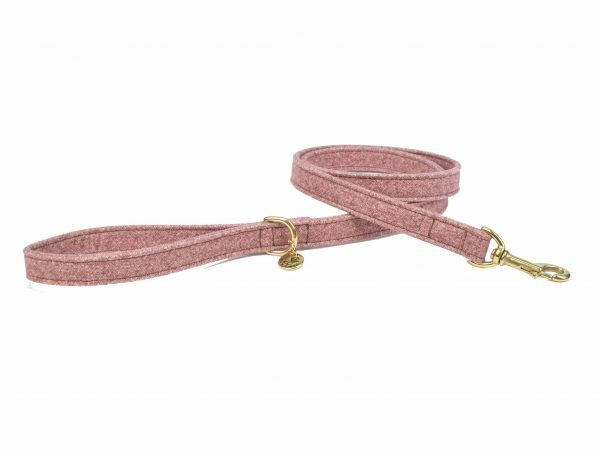 Leiband hond StØv roze 120cmx20mm