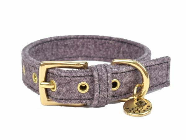 Halsband hond StØv donkergrijs 45cmx20mm M