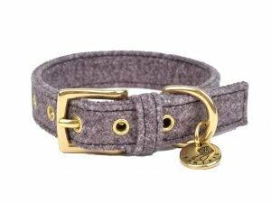Halsband hond StØv donkergrijs 30cmx20mm XXS