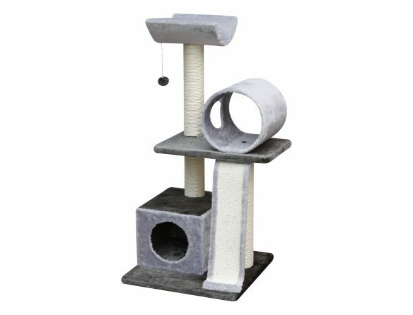 Kattenklim Cano grijs-antraciet 50x50x105cm