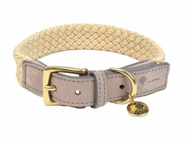 Halsband hond Tau grijs 45cmx25mm M