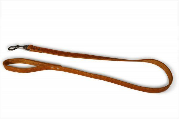Leiband geolied leder cognac 100cmx18mm M-L