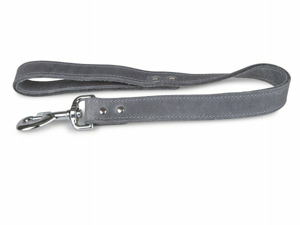 Leiband geolied leder grijs 50cmx25mm XL