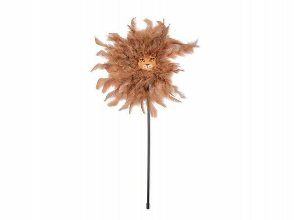 Speelgoed kat hengel leeuw 45cm