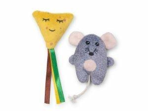 Speelgoed kat set muisje en kaas (2)