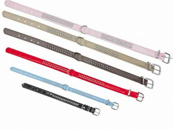 Halsband Crystal 1 rij lichtblauw 32cmx12-14mmXS-S