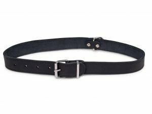 Halsband geolied leder zwart 70cmx30mm XXL