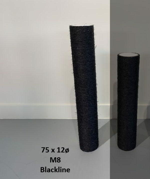Sisalpaal 75x12Ø M8 BLACKLINE