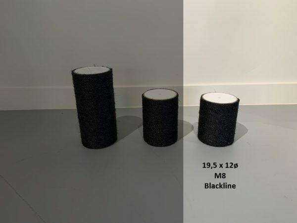 Sisalpaal 19,5x12Ø M8 BLACKLINE