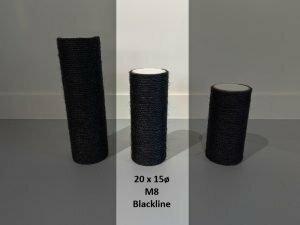 Sisalpaal 20x15Ø M8  BLACKLINE