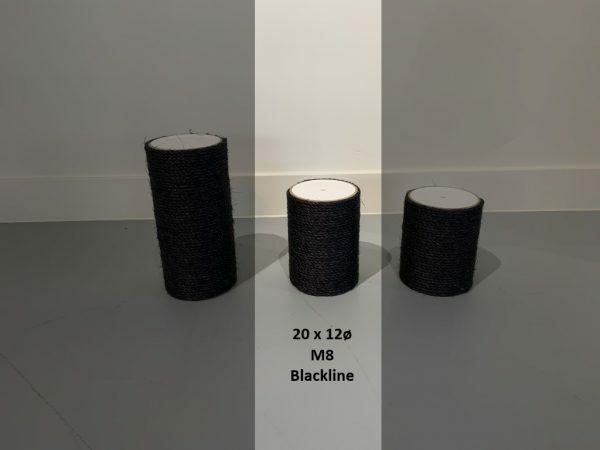 Sisalpaal 20x12Ø M8 BLACKLINE