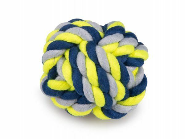 Katoenen bal blauw-geel 280g Ø10,5cm