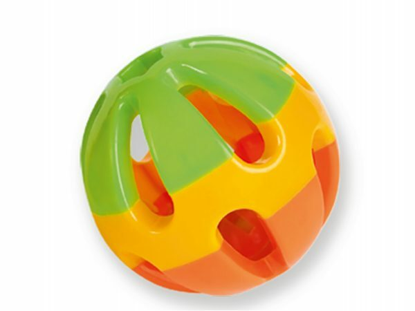 Speelgoed knaagdier Bal plastic met bel 8 cm Ass.