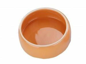 Eetpot knaagdier aardewerk oranje Ø8,5cm