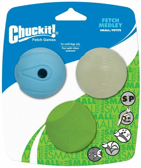 Chuckit Fetch Medley S 5 cm 3 Pack