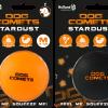 Dog Comets Ball Stardust Oranje M