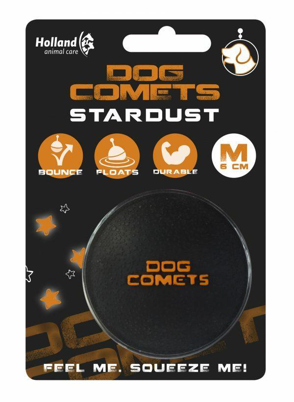 Dog Comets Ball Stardust Zwart/Oranje M
