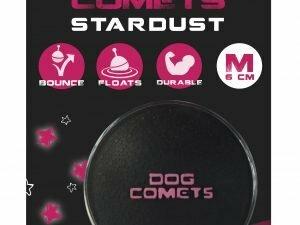 Dog Comets Ball Stardust Zwart/Roze M