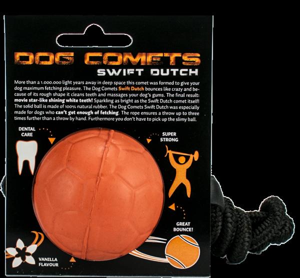 Dog Comets Ball Swift Dutch met Touw