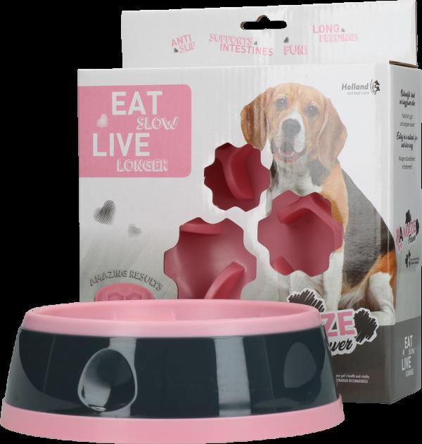 Eat Slow Live Longer Amaze Flower Pink M