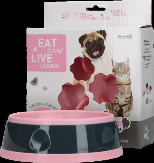 Eat Slow Live Longer Amaze Flower Pink S