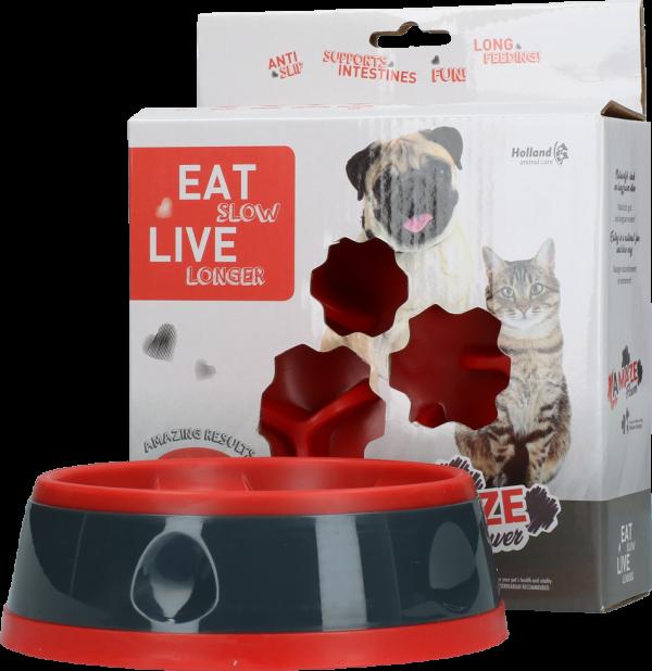 Eat Slow Live Longer Amaze Flower Red S