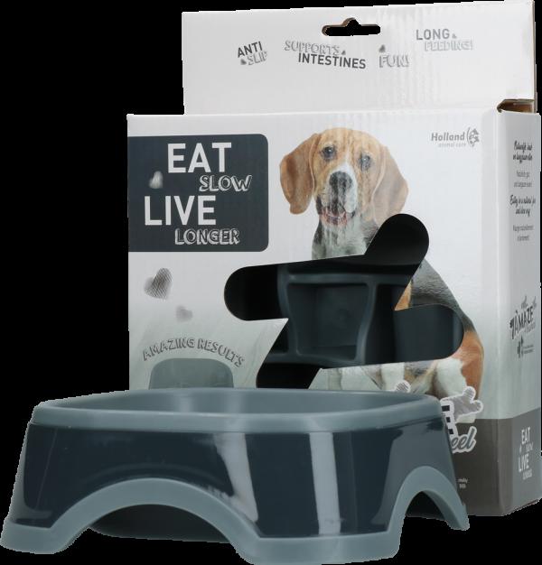 Eat Slow Live Longer Amaze Pinwheel Grey M