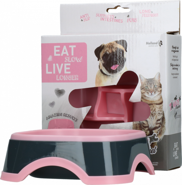 Eat Slow Live Longer Amaze Pinwheel Pink S