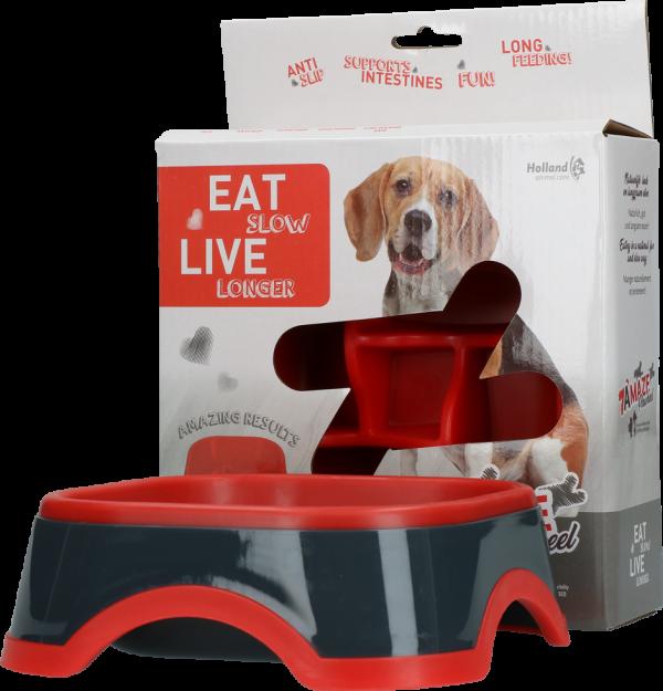 Eat Slow Live Longer Amaze Pinwheel Red M