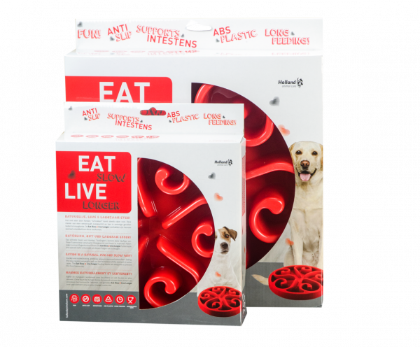 Eat Slow Live Longer Original Red S