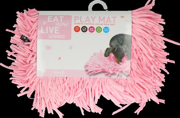 Eat Slow Live Longer Play Mat Pink