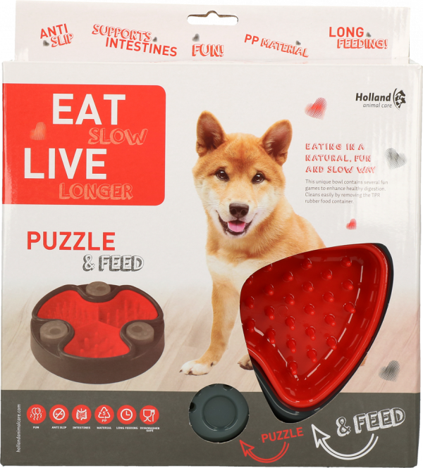 Eat Slow Live Longer Puzzle and Feed Red