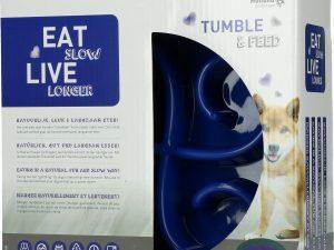 Eat Slow Live Longer Tumble Feeder Blue