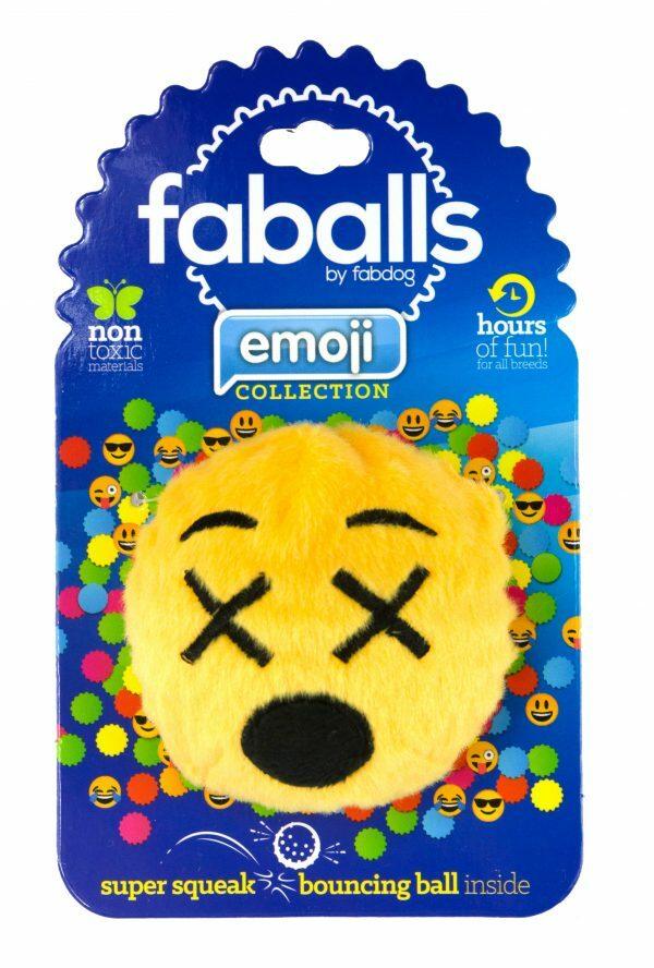 FabDog Cross Eyed Emoji  Faball S 7,6 cm