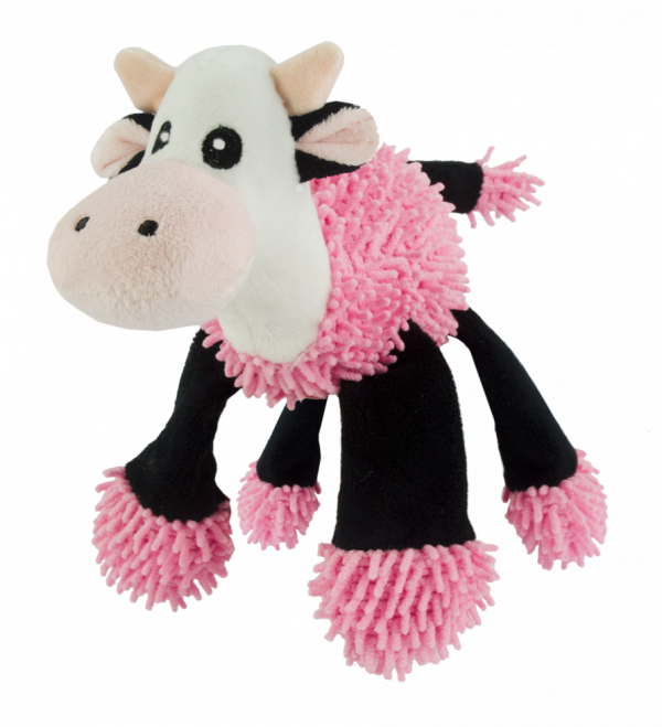 Fuzzle Cow with 5 squeakers