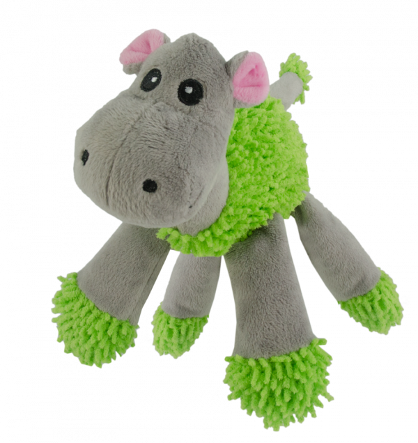 Fuzzle Hippo with 5 squeakers