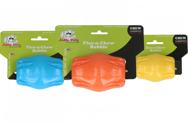 Jolly Flex-n-Chew Bobble oranje large
