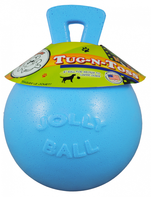 Jolly Tug-n-Toss 10 cm Baby Blauw (Bosbessengeur)