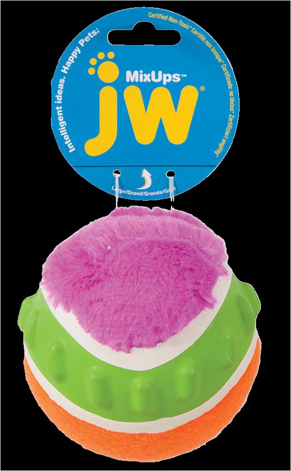 JW Mixups Ribbed Ball L 10 cm
