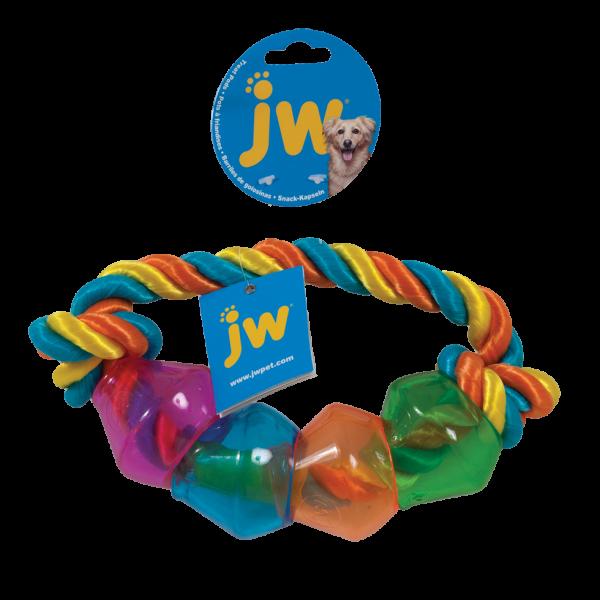 JW Treat Pod Rope Ring Large 22cm Multi Color