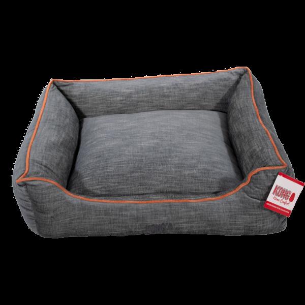 KONG Lounger Beds Large, Grijs met oranje lijn