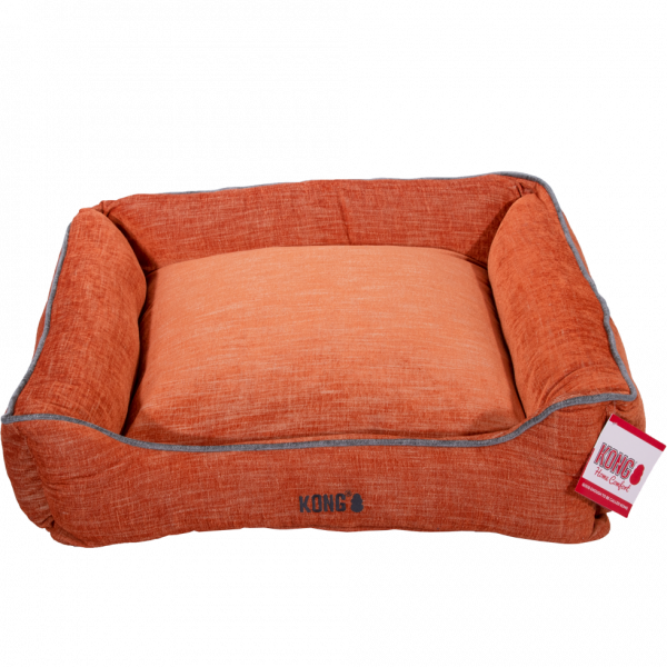 KONG Lounger Beds Large, Oranje met grijze lijn