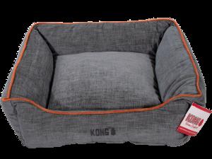 KONG Lounger Beds Medium, Grijs met oranje lijn