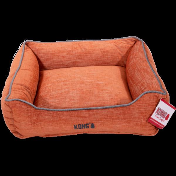 KONG Lounger Beds Medium, Oranje met grijze lijn