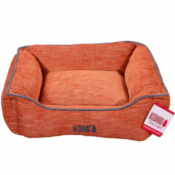 KONG Lounger Beds Small, Oranje met grijze lijn