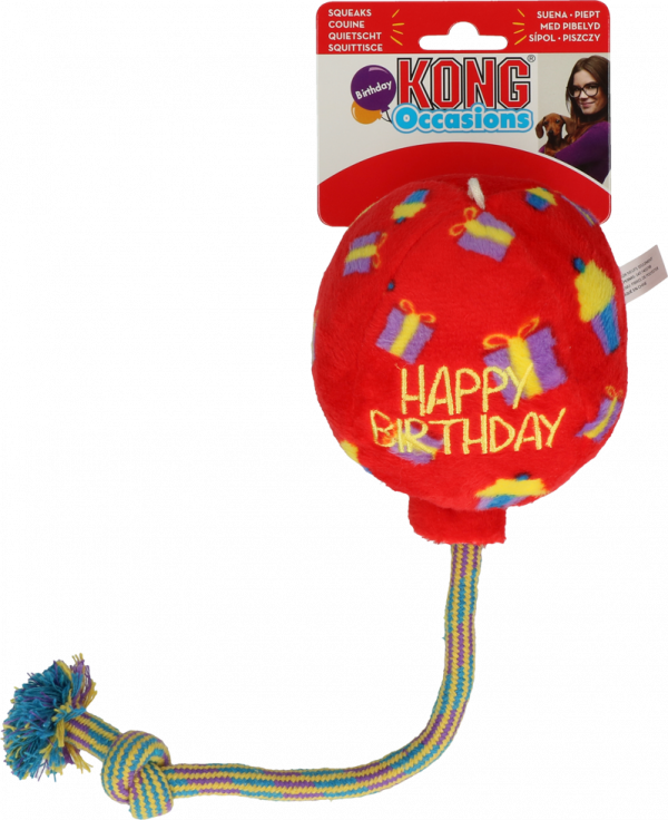 KONG Occasions Birthday Balloon Red M